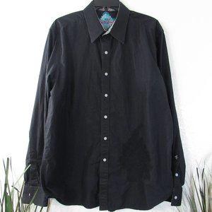 Robert Graham Black Embroidery Long Sleeve Shirt